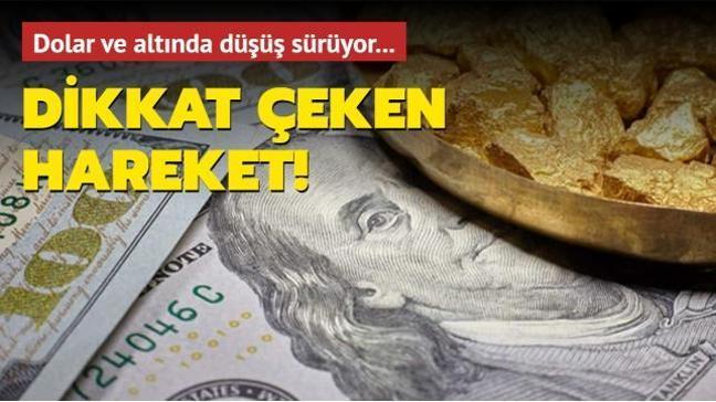 Gram altın 406 liraya kadar geriledi! Dolar ve altında düşüş sürüyor!