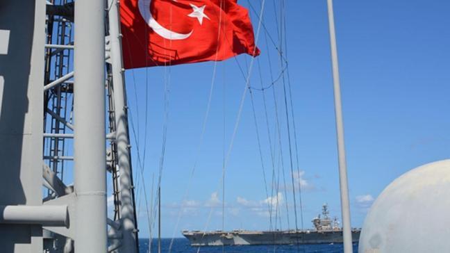 MSB paylaştı! Doğu Akdeniz'de ABD ile ortak eğitim