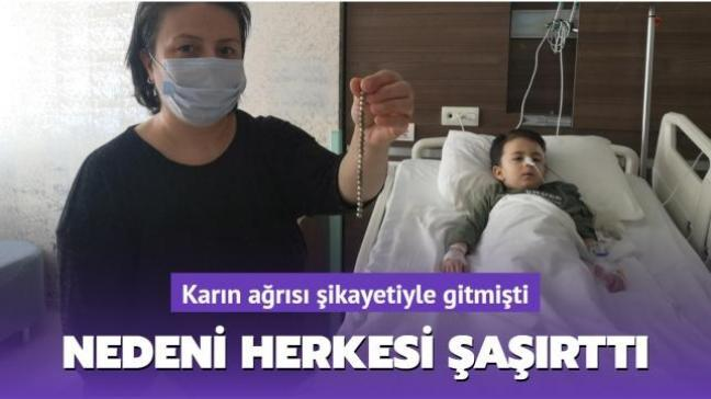 Karın ağrısı şikayetiyle gitmişti: Küçük Uras'ın bağırsağından 19 mıknatıs çıktı