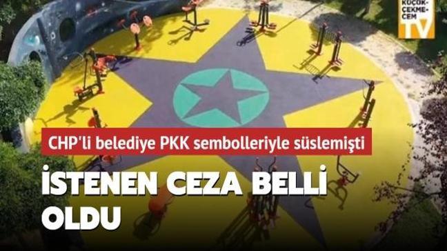 CHP'li belediyenin çocuk parkında PKK sembolleri kullanmasına 5 yıl hapis istemi