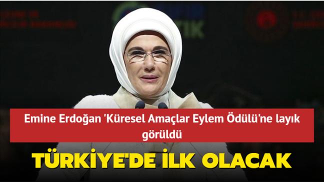 """Emine Erdoğan'ın """"Sıfır Atık Projesi""""ne Birleşmiş Milletler'den ödül!"""