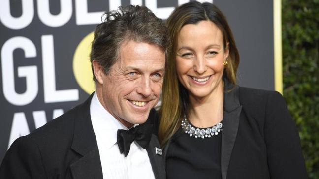 İngiliz oyuncu Hugh Grant ve eşi Anna Eberstein Türkiye'de