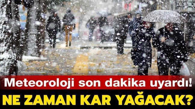 """Kar ne zaman ve hangi illere yağacak"""" İstanbul'a kar hangi gün yağacak"""" İşte hava durumu raporları..."""