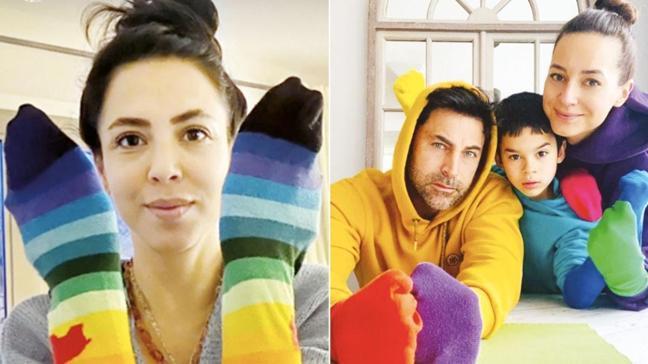 Ünlülerden renkli çoraplarla farkındalık