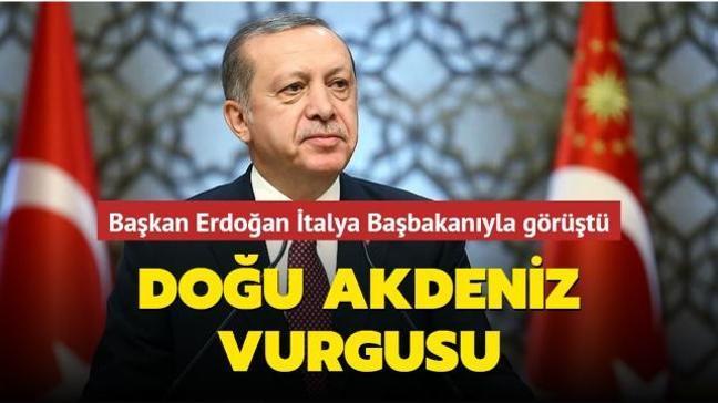 Doğu Akdeniz vurgusu... Başkan Erdoğan İtalya Başbakanıyla görüştü