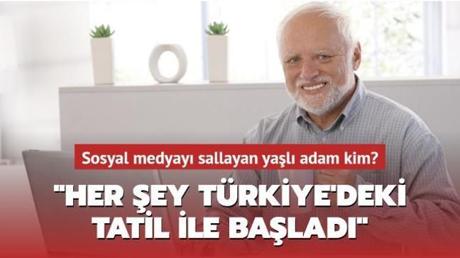 """Capsleri ile sosyal medyayı sallayan yaşlı adam aslında kim"""" """"Her şey Türkiye'deki tatil ile başladı"""""""