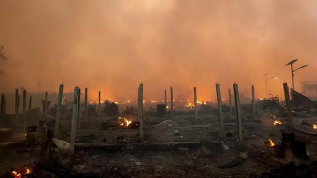 Bangladeş'te mültecilerin kaldığı kampta yangın: 15 ölü, 400 kişiden haber yok