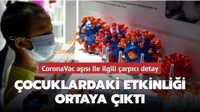 Türkiye'de de uygulanan CoronaVac aşısı ile ilgili çarpıcı detay: Çocuklardaki etkinliği ortaya çıktı