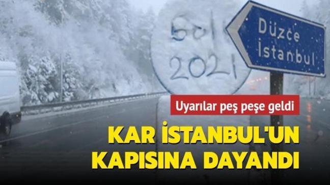 Kar İstanbul'un kapısına dayandı: Çarşamba gününe dikkat
