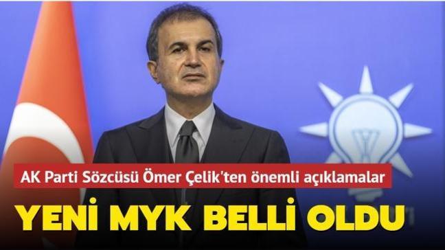 AK Parti Sözcüsü Çelik'ten önemli açıklamalar... Yeni MYK belli oldu