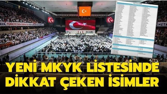 AK Parti'nin yeni MKYK listesinde dikkat çeken isimler