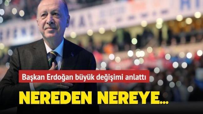 Başkan Erdoğan AK Parti iktidarında elde edilen başarıyı rakamlarıyla duyurdu