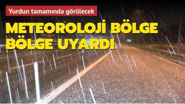 Meteoroloji'den son dakika uyarısı: Yurdun tamamında sağanak ve kar yağışı etkili olacak