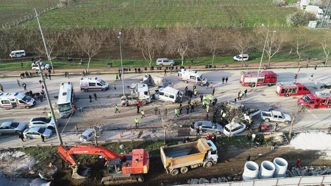 Bursa'daki feci tır kazasında bilirkişi incelemesi yapıldı
