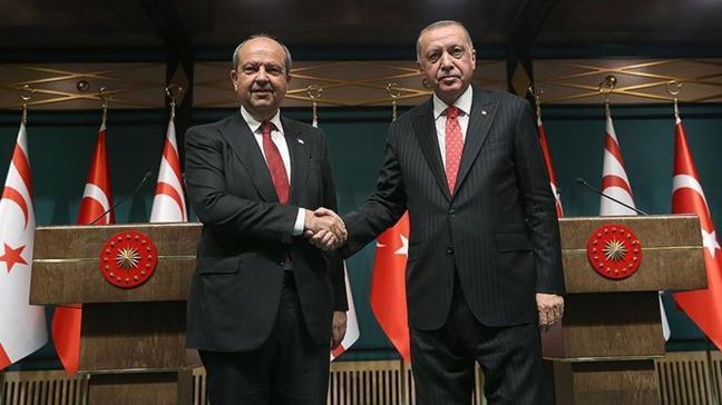 KKTC Cumhurbaşkanı'ndan Başkan Erdoğan'a tebrik