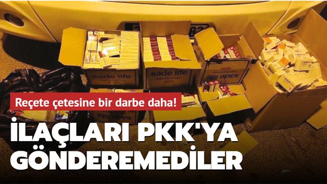 Reçete çetesine bir darbe daha! İlaçları PKK'ya gönderemediler
