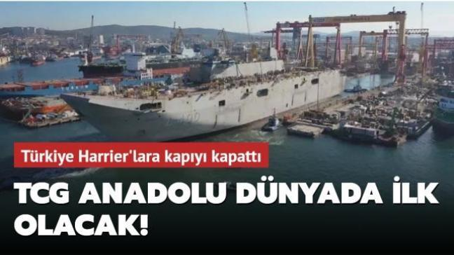 TCG Anadolu dünyada SİHA'larla donatılmış ilk gemi olacak