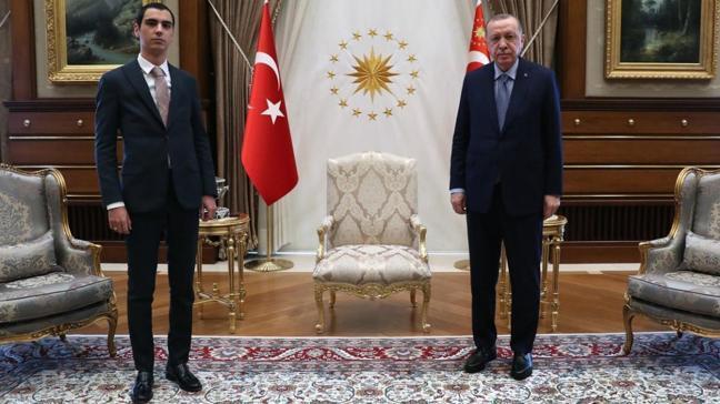 Başkan Erdoğan, Muhsin Yazıcıoğlu'nun oğlu Fatih Furkan Yazıcıoğlu'nu kabul etti