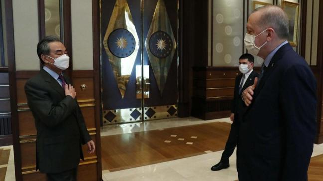 Başkan Erdoğan Çin Dışişleri Bakanı Yi ile görüştü