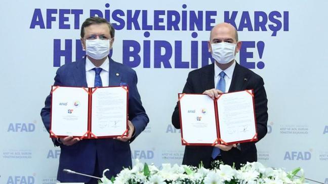 İçişleri Bakanlığı ile TOBB Afet Eğitim İşbirliği Protokolü'ne imza attı