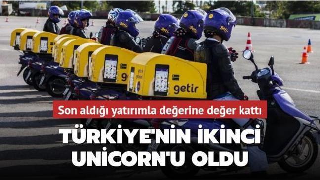 300 milyon dolarlık yatırım alan Getir, Türkiye'nin ikinci Unicorn'u oldu