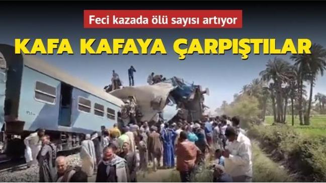 Son dakika haberi... Mısır'da 2 trenin çarpışması sonucu onlarca kişi öldü