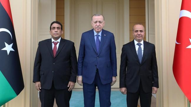 Başkan Erdoğan Libya Başkanlık Konseyi Başkanı el-Menfi'yi kabul etti