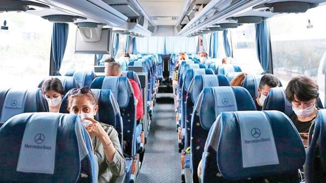 Otobüsteki boş yan koltuğa % 50 indirim