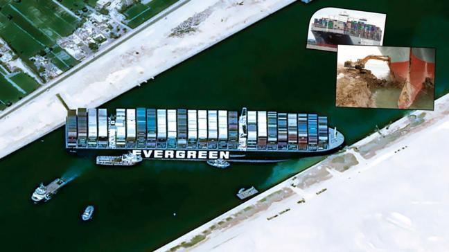 Süveyş Kanalı kapandı, dünya ticareti durdu! Bu hızla iki hafta sürer