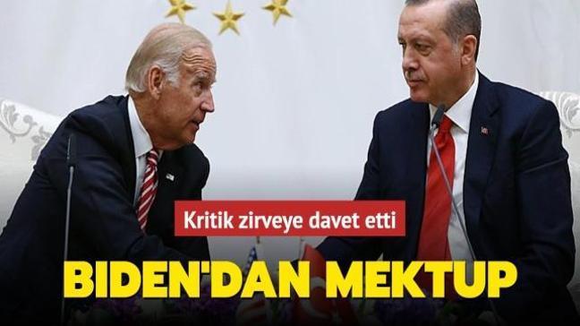 ABD Başkanı Biden'dan Başkan Erdoğan'a mektup: İklim Zirvesi'ne davet etti