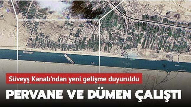 Süveyş Kanalı'ndaki geminin pervane ve dümeni çalıştırıldı