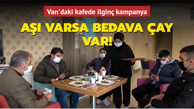 Van'daki kafede aşı olana ücretsiz çay veriliyor