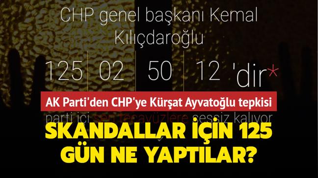 """AK Parti'den CHP'ye Kürşat Ayvatoğlu tepkisi: Taciz ve tecavüz olayları için 125 günde ne yaptılar"""""""