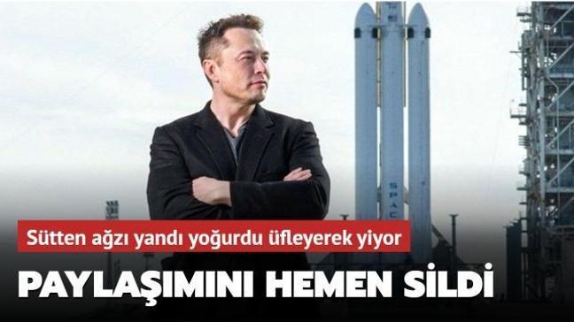 Elon Musk sosyal medyadan yaptığı paylaşımı kısa sürede sildi