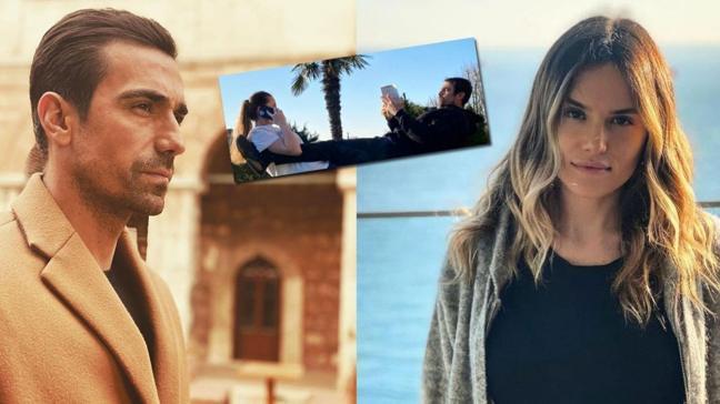 İbrahim Çelikkol ve eşi Mihre Çelikkol'un ilginç yoga pozları dikkat çekti