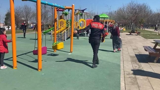 Sokağa çıkma kısıtlamasını dinlemedi: Polisten kaçarken çocuğunu unuttu