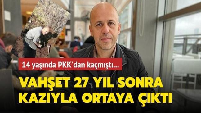 Terör örgütü PKK'nın vahşeti 27 yıl sonra kazıyla ortaya çıktı