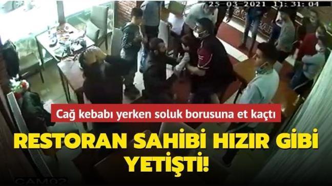 Soluk borusuna et kaçan çocuğu restoran sahibi kurtardı