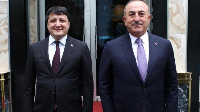 Çavuşoğlu Tacikistan'da toplantılarına devam ediyor