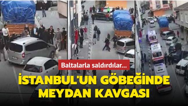 İstanbul'un göbeğinde meydan kavgası: Park anlaşmazlığı baltalı kavgaya dönüştü