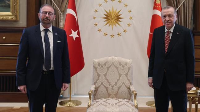 Başkan Erdoğan, Avrupa Konseyi Parlamenter Meclisi Başkanı Daems'i kabul etti