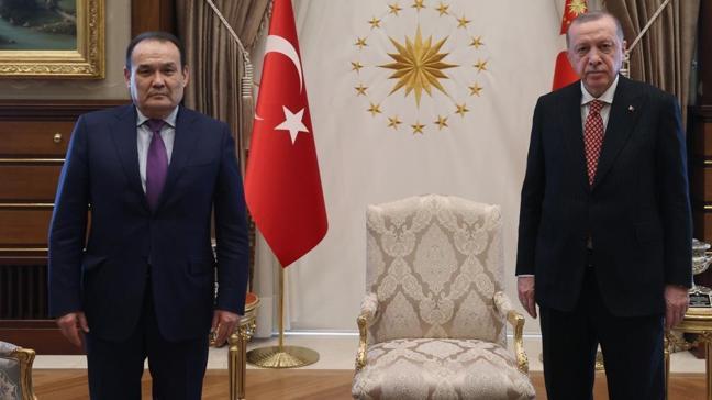 Başkan Erdoğan Türk Konseyi Genel Sekreteri Amreyev ile görüştü