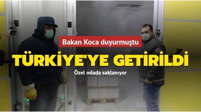 2,8 milyon doz BionTech aşısı Türkiye'ye getirildi
