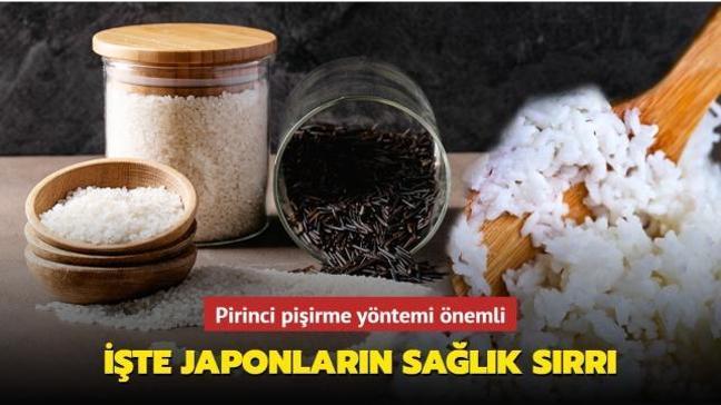 Japonların sağlık sırrı pirinci haşlamak