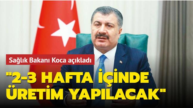 Sağlık Bakanı Fahrettin Koca açıkladı: Yerli aşı ve sprey son aşamada