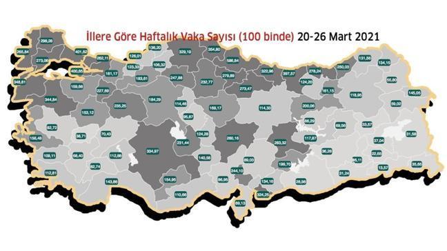 İstanbul vaka sayısı en yüksek ikinci il