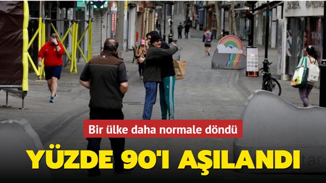 Cebelitarık'ta nüfusun yüzde 90'ı aşılandı!