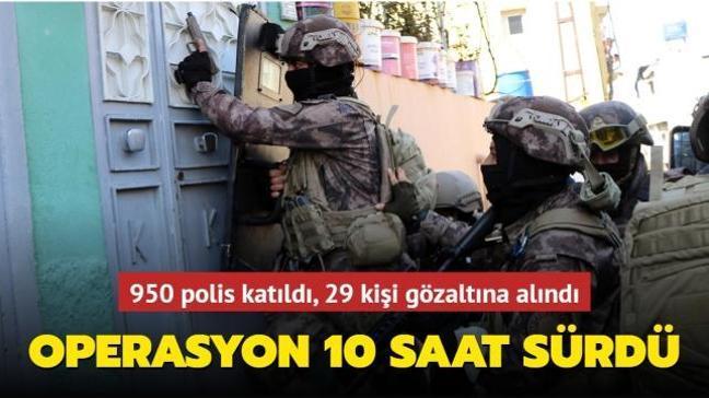Gaziantep'te uyuşturucu operasyonu: 950 polis katıldı, 29 kişi gözaltında