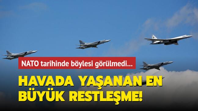 NATO'dan Rus savaş uçaklarına önleme: Havada yaşanan en büyük restleşme olarak tarihe geçti