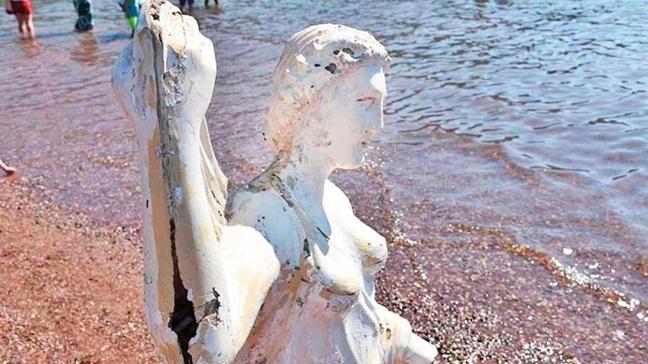 'Prenses' heykeline son rötuş